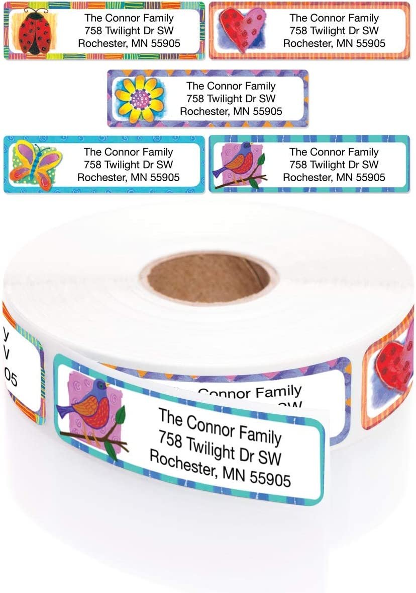 Imagination Assorted Tampa Mall Designer Rolled with Max 48% OFF Address Elegant Labels
