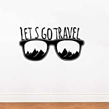 Rawpockets 'Lets Go Travel' Wall Sticker (PVC Vinyl, 30 cm x 58cm, Black)