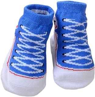 Scrox 1 Par Calcetines de bebé Recién Nacido 0-6 Zapatos Bebe niña Lindo 3D Espesar Socks Algodón Mantener Caliente Otoño e Invierno Calcetines Antideslizantes de Piso