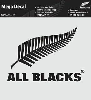 RWC2019 ALL BLACKS オールブラックス ラグビー ニュージーランド代表 転写ステッカー 黒 25cm MEGA Decal ラグビーワールドカップ 車 窓 パネル 道具箱 自転車 バイク などに