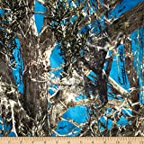E.Z. Fabric Minky True Timber Woodlands Blue, Fabric by the Yard