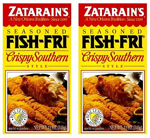 Zatarains Breading Crispy Fish Fry 12 OZ (Pack of 2)