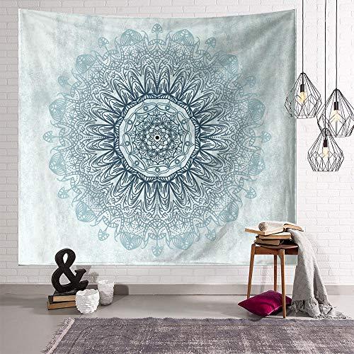 Tapiz Mandala Cian Tapiz Pared Poliéster Decoracion Habitacion Tapices de Pared Tapestry Decoracion Pared Aesthetic Room Decor Con 2 Clavos y 2 Clips 150x200cm