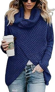 Suéter De Punto para Mujer Suéter De Cuello Alto Jersey Especial Estilo De Punto Suéter De Gran Tamaño Otoño Invierno Suét...