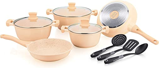 Winsor Cast Aluminium Non Stick Cookware Set 11 Piece, Beige (5021565060129)