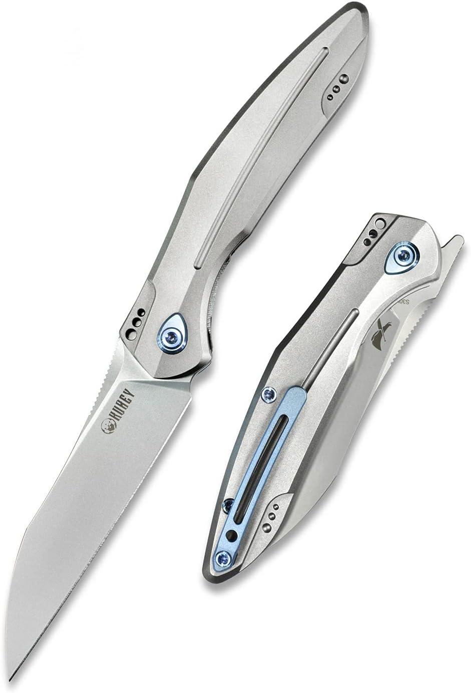 Kubey Max famous 84% OFF Barracuda KU299 Pocket Folding Knife Front Titani Flipper