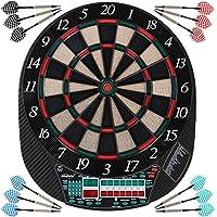 6 Dardos 27 Juegos Volumen Ajuste COSTWAY Dardos Diana Electronica Cl/ásica con Pantalla LCD Dartboard