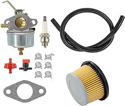 MOTOKU Carburetor Air Filter Fuel Hose Shut Off Valve carb for Tecumseh 632230 632272 H30 H50 H60 HH60 Engine 5 6 HP 4 Cycle Engine Troy Bilt Tiller Toro Snowblower