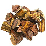 UFEEL 1lb Bulk Rough Tiger's Eye Crystal - Large 1' Natural Raw Stones Crystal for Tumbling, Cabbing, Fountain Rocks, Decoration,Polishing, Wire Wrapping, Wicca & Reiki Healing Crystals