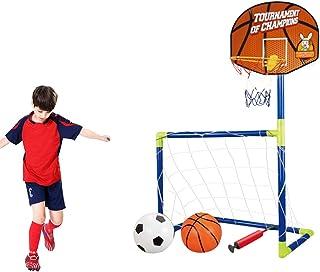 6c946315f9cd9 Lommer Enfant But de Foot et Panier de Basket 2 Fonction Mini Cage de Foot  But
