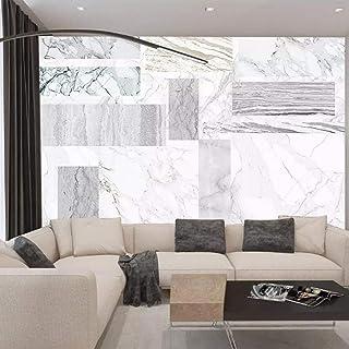 murales de pared dormitorioNórdico moderno jazz blanco minimalista mármol blanco y negro liso geométrico salón dormitorio fondo papel tapiz mural(400x280cm)