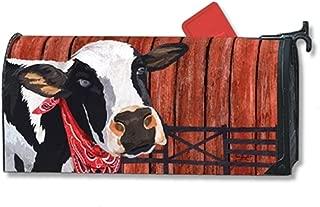 Studio M Home Mailbox Cover MailWrap - Cow Cowboy Down On The Farm