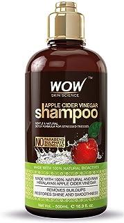 WOW Apple Cider Vinegar Shampoo - Reduce Dandruff, Frizz, Split Ends, For Hair Loss - Clean Scalp & Boost Gloss, Shine - P...