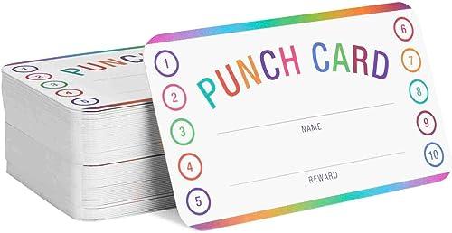 discount Teacher Punch Cards outlet online sale 200 Pack (3.5 x 2 2021 inch) - Incentive Behavior Reward Card for Students online