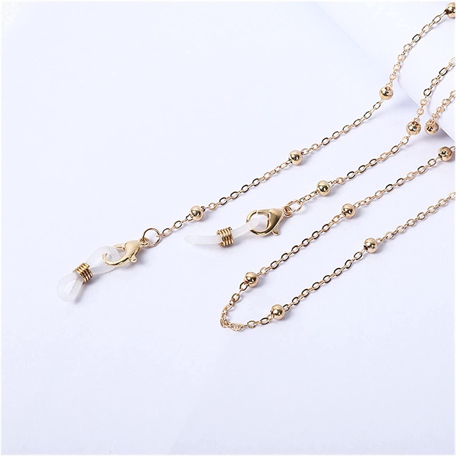 Eye Chain Sunglasses Masking Chains for Women Alloy Pearl Chain Eyeglasses Chains Lanyard Glass 2021 (Color : 1)