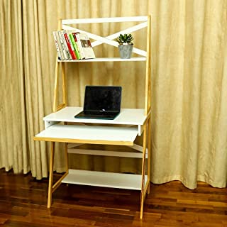 YATAI Computer Desk with Shelf Shelves Home Office Desk PC Laptop Table PC Laptop Study Workstation For Home Office Bedroo...