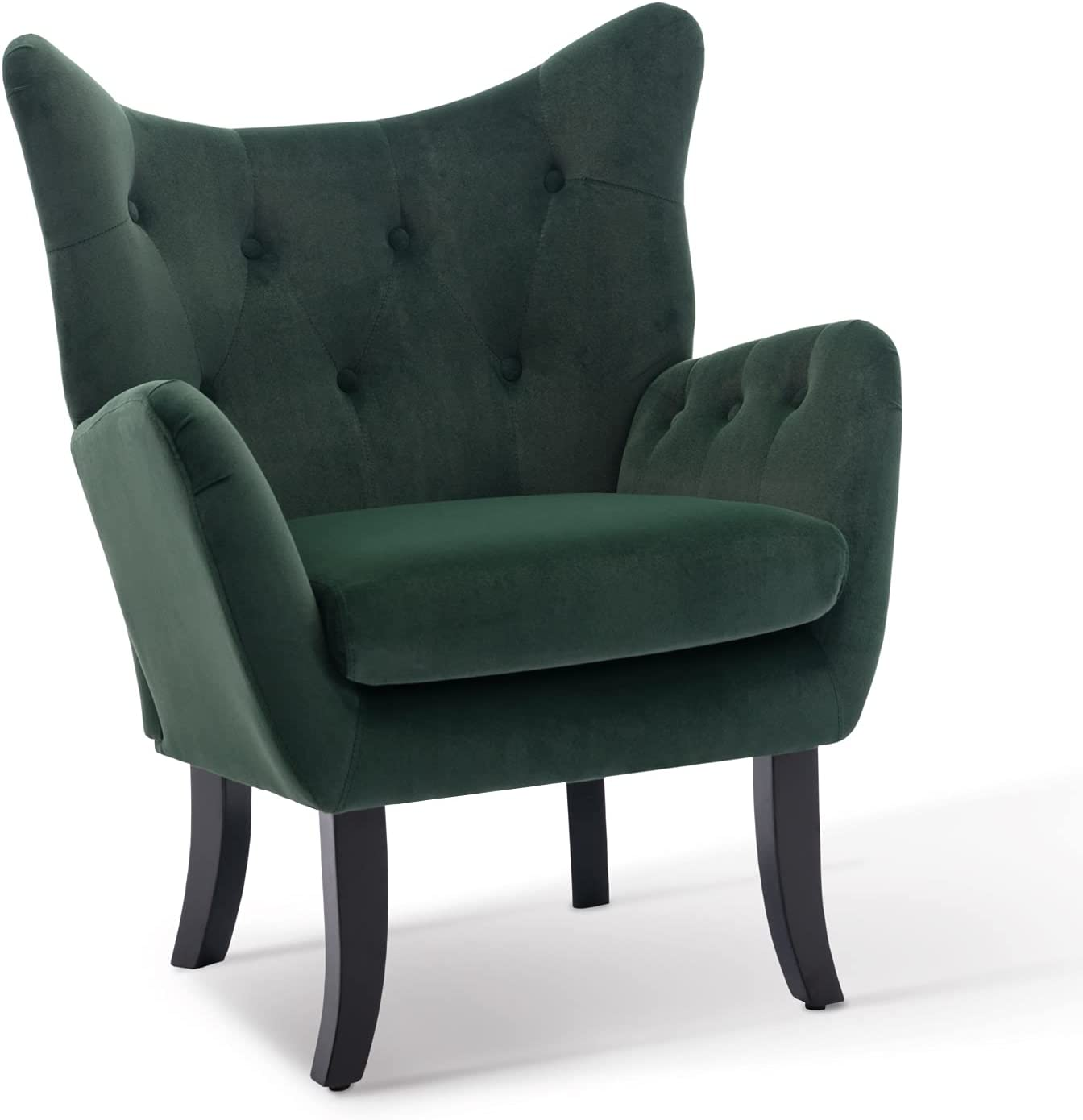 Accent Chair Velvet Wingback High quality Vanity Tufted A Modern Button 2021 model