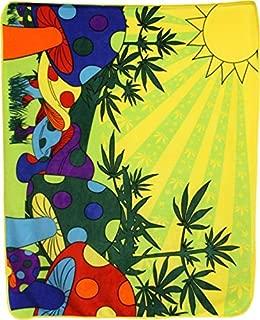 Infinity Republic - Mushroom Marijuana Pot Culture Soft Fleece Throw Blanket - 50x60 Perfect for Living Rooms, bedrooms, Kids' Rooms, Outdoors!