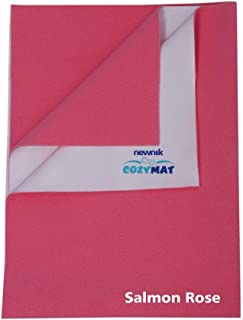 Cozymat Soft, Waterproof & Reusable Mat Small (Size: 70Cm X 50Cm) Salmon Rose