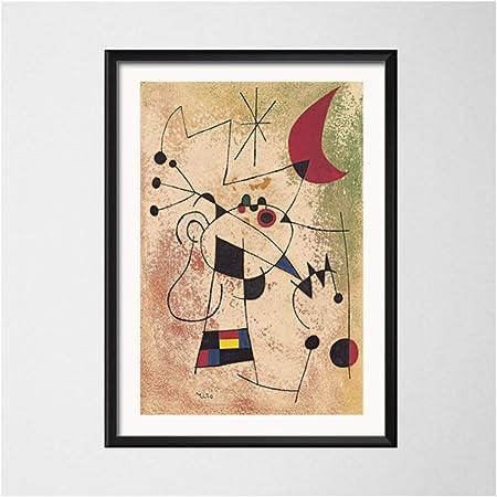 15X20Cm Kein Rahmen Wie Gezeigt JYWDZSH Leinwanddruck Joan Miro Moderne Surrealismus Kunst Gem/älde Abstraktes Bild Retro Kunst Leinwand Malerei Poster Wand Wohnkultur