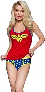 DC Comics Wonder Woman Ribbed Tank & Panty Set for Women