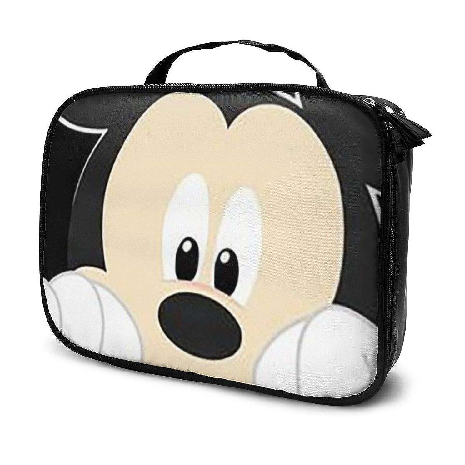 不誠実作曲するヘッドレスDaituペリーミッキーマウス 化粧品袋の女性旅行バッグ収納大容量防水アクセサリー旅行