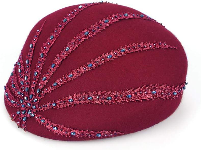 TANGADYL Women Berets Wool Blend Beanies Hat Solid Color Lightweight Casual Autumn Winter