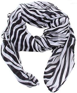 TXIN Multi-Usage Lightweight Women Long Prints Shawl Zebra Large Stripe Scarves