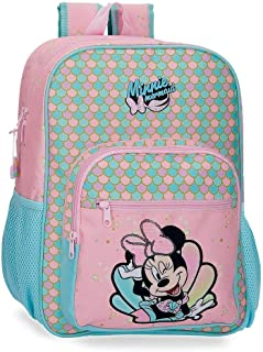 Minnie Mermaid Mochila Adaptable a Carro Rosa 30x38x12 cms Poliéster 13.68L