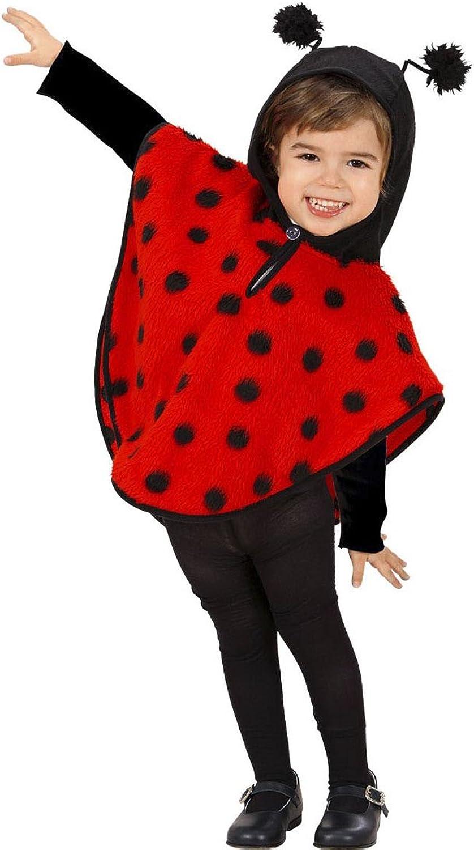 Costume de coccinelle pour enfant costume de bête à bon dieu 110 cm 4-5 ans Poncho Besteiole porte-bonheur cape à capuche coccinelle petits pois costume animal déguisement de autonaval petit enfant