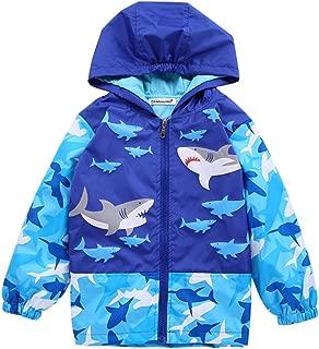 Aiweijia Baby 1-6Y Hooded Toddler Rain Jacket Raincoat Waterproof Bomber Coat