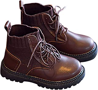 Hopscotch Boys and Girls PU Lace Up Ankle Length Boots in Tan Color