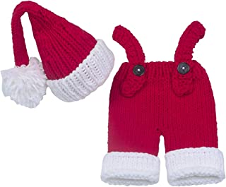 Newborn Photography Props Baby Boy Knitted Outfits Crochet Hat Pants Set