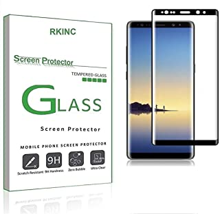 RKINC forSamsung Note 9Screen Protector, [1 Pack] Full Coverage Tempered Glass Clear Screen Protector [9H Hardness][3D R...