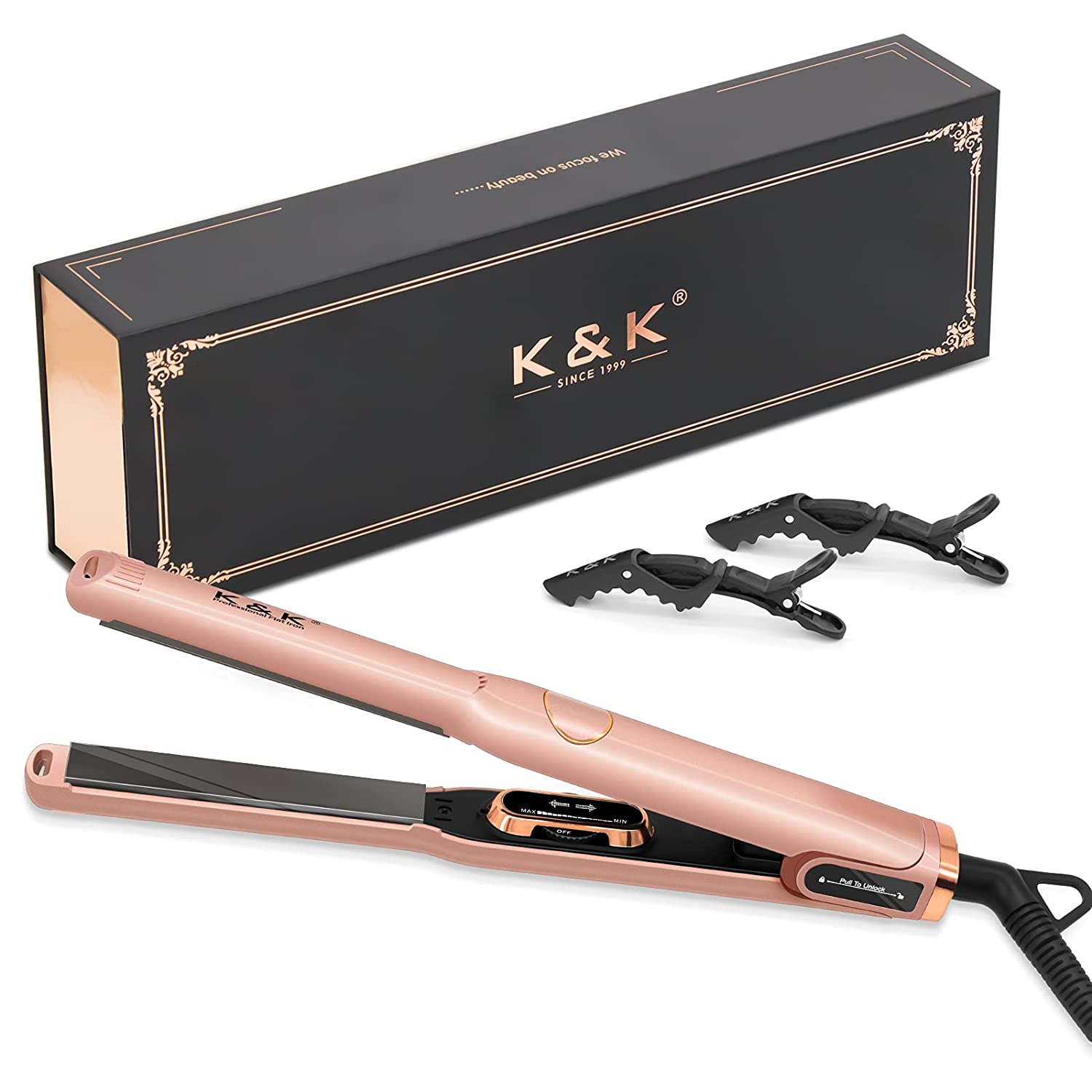 Mini Hair 55% OFF Straightener Ranking TOP7 with LCD Adjustable Temperature Display 1