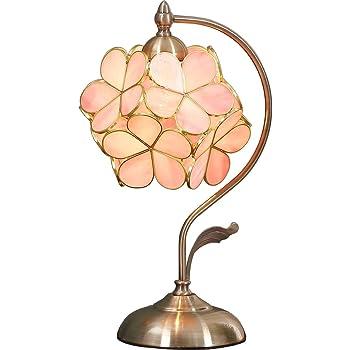Bieye照明 桜 ティファニーランプ ステンドグラスランプ インテリアライト 贈り物 テーブルランプ 雰囲気ランプ ベッドサイド 癒しグッズ ステンドグラス 枕元スタンド 枕元ライト 枕元ランプ 卓上照明 間接照明 ロマンチック デスクライト ピンク