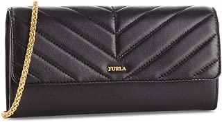 Furla Women's Black Leather Magia Chain Wallet XL
