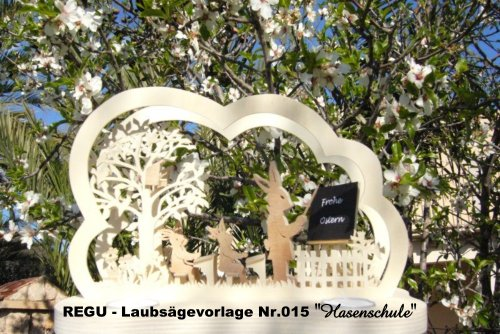 REGU - Laubsägevorlage Osterbogen Hasenschule 015