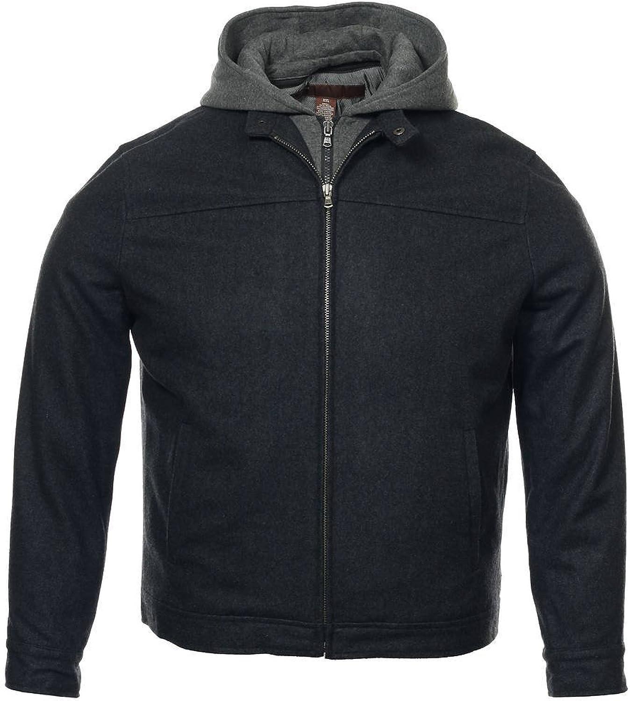 Perry Ellis Men's Gray Heather Hooded Jacket