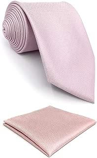 S&W SHLAX&WING Herren Krawatte Solid Rosa Classic Hochzeit Party Seide