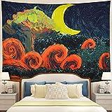 Tushelia Starry Night Tapestry Moon Stars...