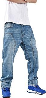 メンズ 大きいサイズ ジーンズ デニム ストレッチパンツ ゆったり ストレート ジーパン