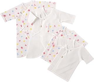 [ミキハウス ホットビスケッツ] 出産準備 肌着セット (短肌着&コンビ肌着4枚) 74-9924-975 (50cm, ピンク)