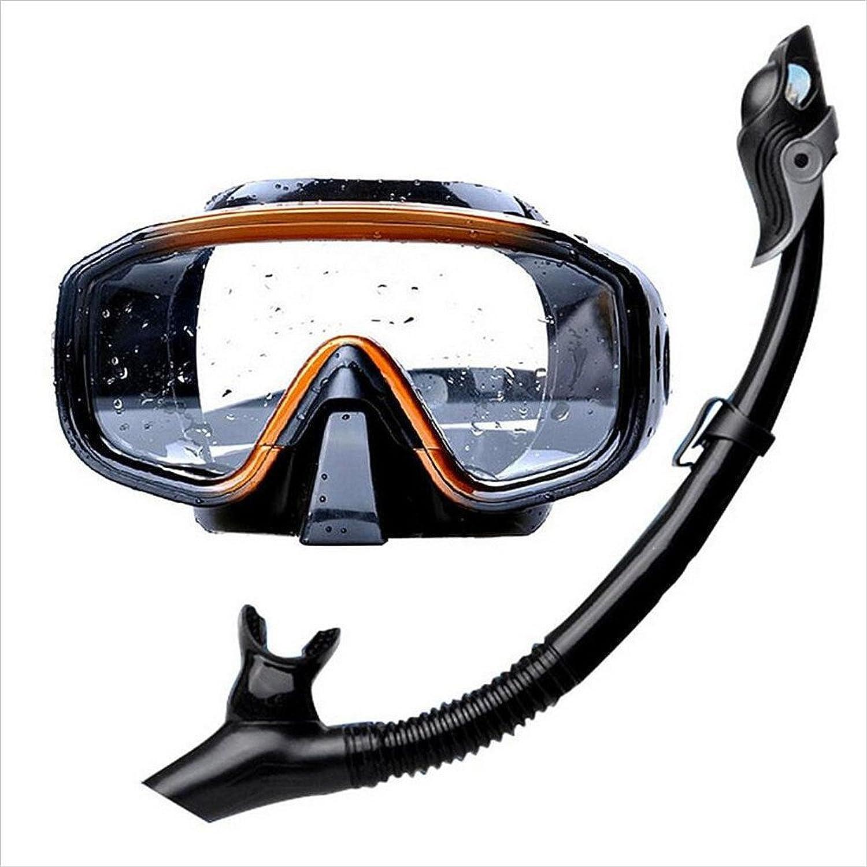 Diving Glasses Diving Snorkel Men's Swimming Snorkel Set Impact Resistant Tempered Glass Goggles