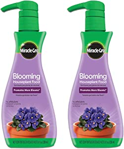 Miracle-Gro Blooming Houseplant Food, 8 oz., Plant Food Feeds All Flowering Houseplants Instantly, Including African Violets, 2 Pack