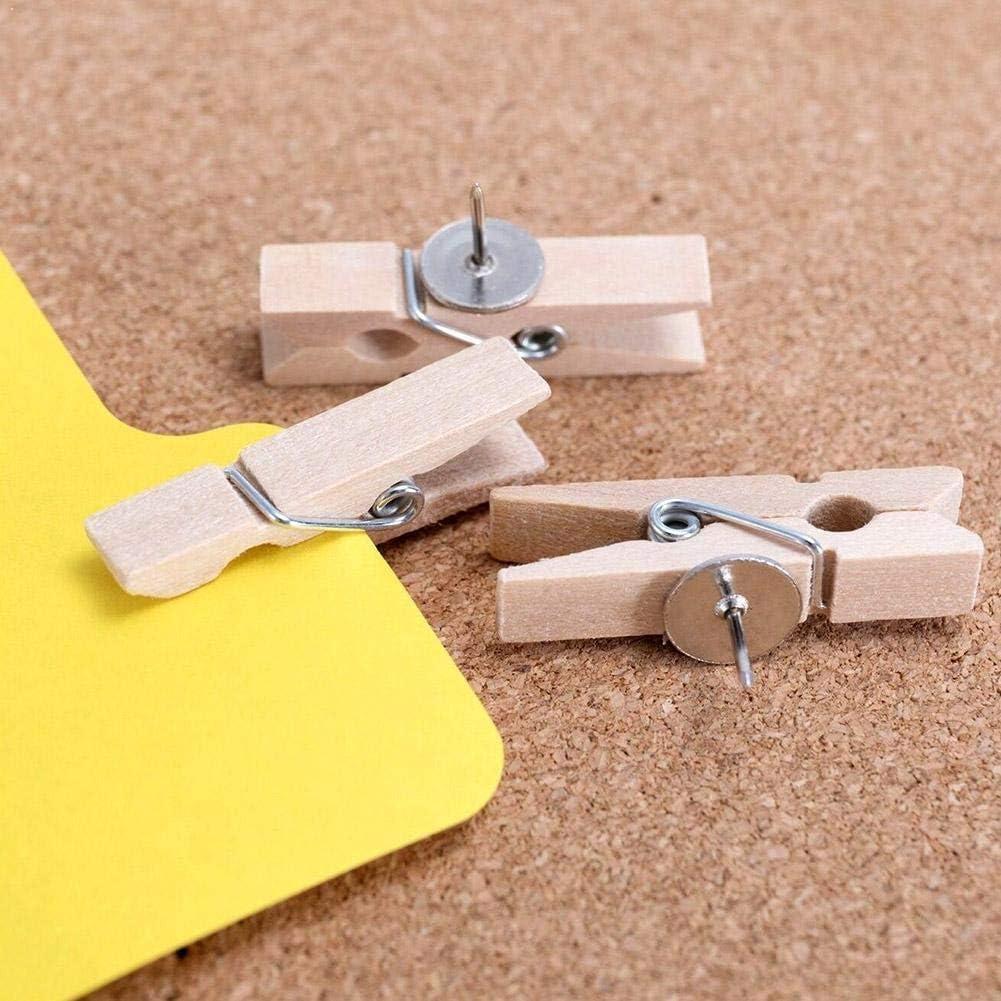 safety Clips Push Pins with Directly managed store Wooden Thumbtacks Boar Tacks Pushpins