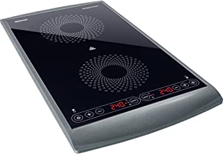 Sencor SCP 5404GY Plaque de cuisson à induction double zone - 2900W - diamètres de 145 et 167 mm - Contrôle de la températ...