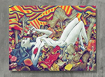 APPLEpie Psychedelic Trippy Art Poster High Definition Posters Standard Size 24 x 18 inch