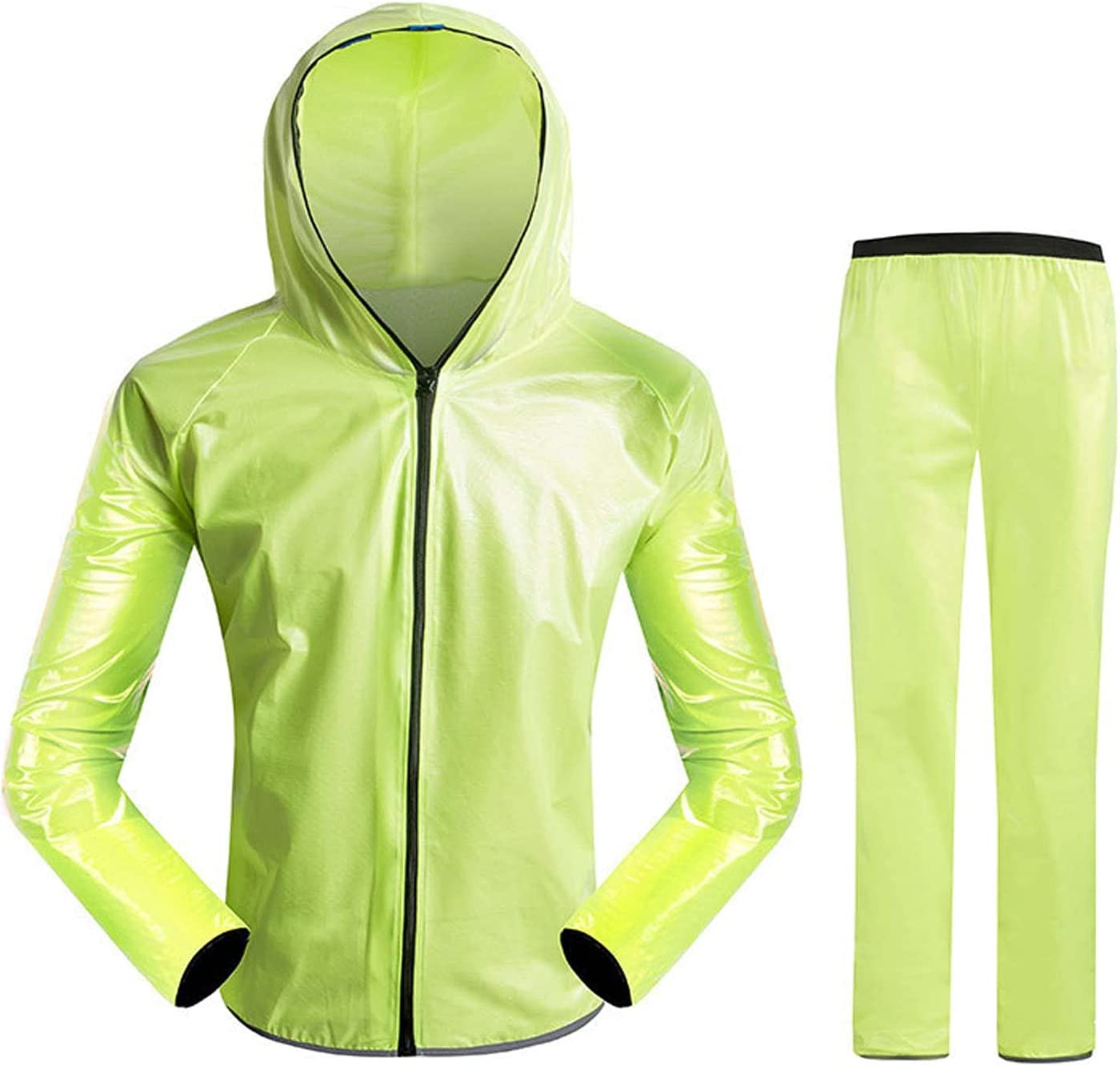 FHGH Adult Split Raincoat, Waterproof Cycling Raincoat and Trousers, for Cycling Climbing Fishing Takeaway,A,Large