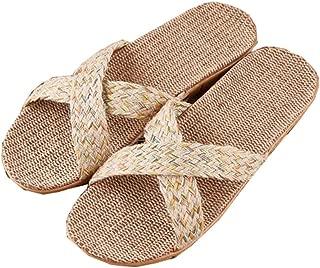 Beach shoes Bohemian clan style slippers sandals fashion linen unisex